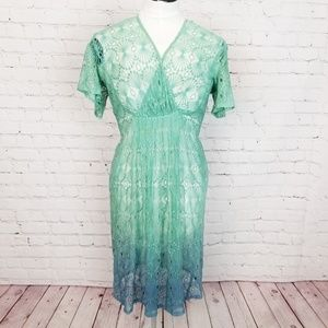 Anthropologie|Vanessa Virginia Ombre Lace Dress